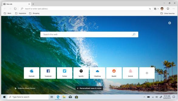 微软Edge浏览器最新测试版释出!一键启动「笑脸」快捷按钮