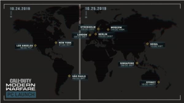 使命召唤 现代战争各地区PC版解锁时间公布[图]