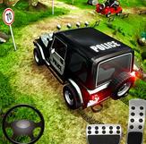 越野警用吉普车4x4驾驶和赛车模拟器